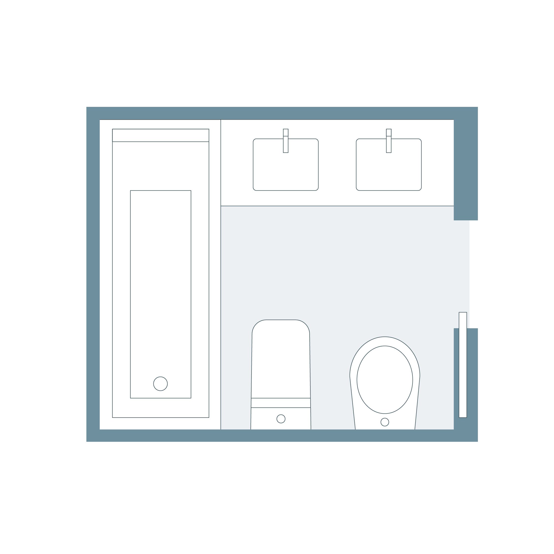 distribución baños perfecta
