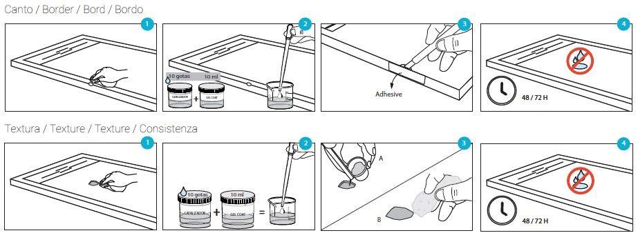 Kit de reparación para platos de ducha de resina