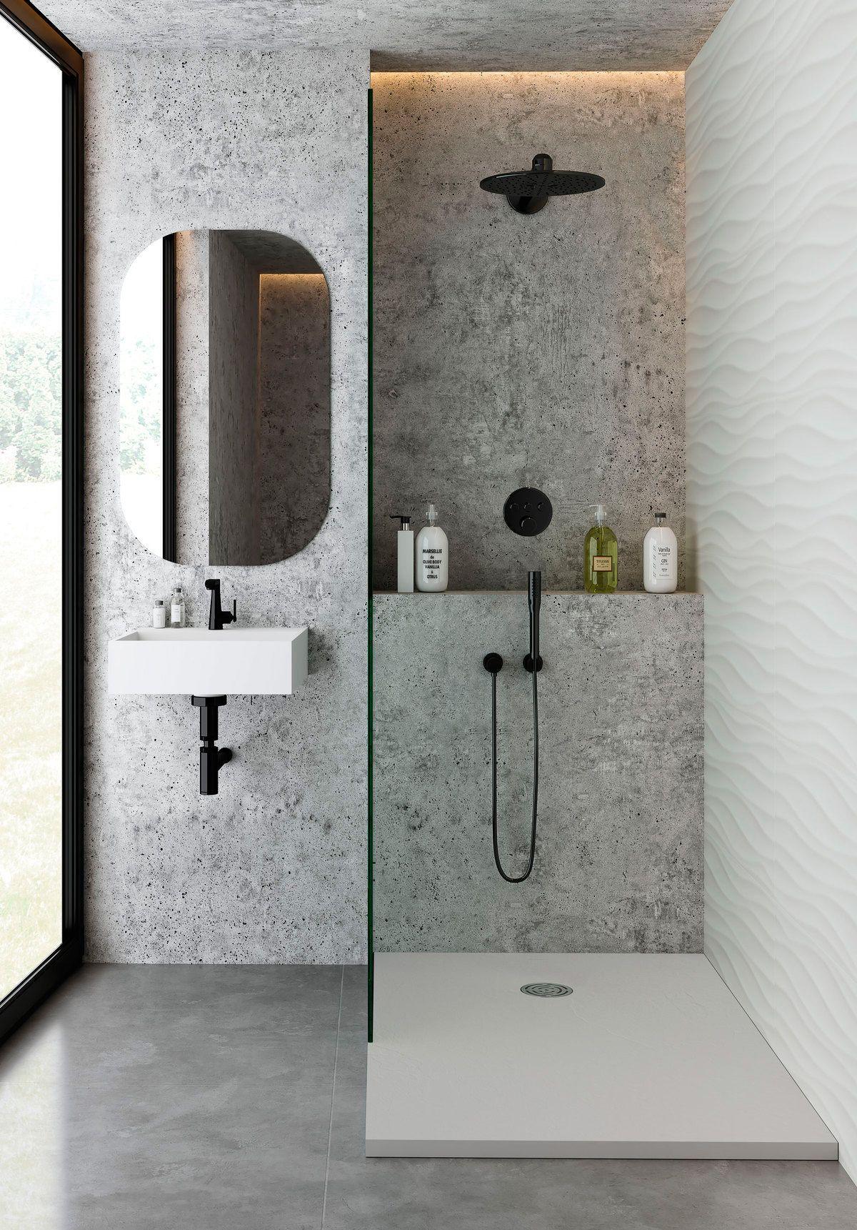 design a small bathroom with a shower or bathtub
